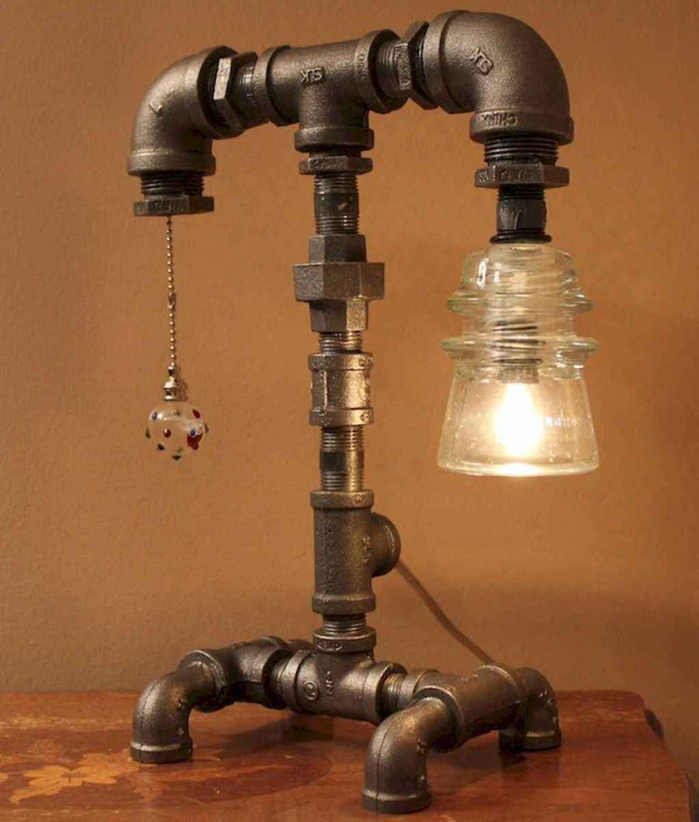 70 cheap diy industrial pipe lamps ideas to decor your home (69)