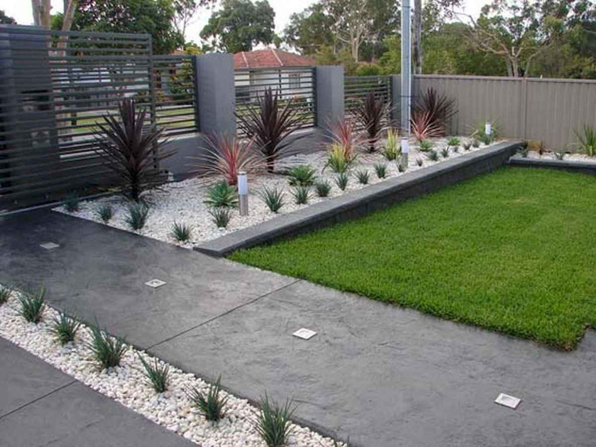 Beautiful Simple Front Yard Landscaping Design Ideas 3 Room