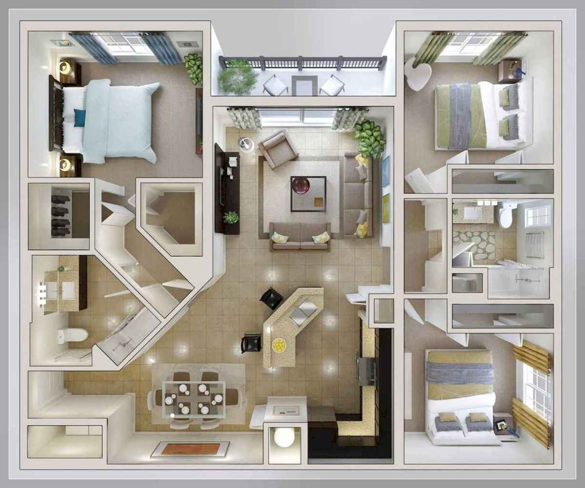 Best small apartment living room layout ideas (21) - Room a ...
