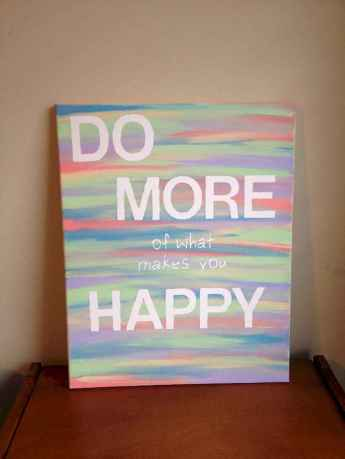 Best wall decoration canvas painting ideas with inspirational quotes (19)