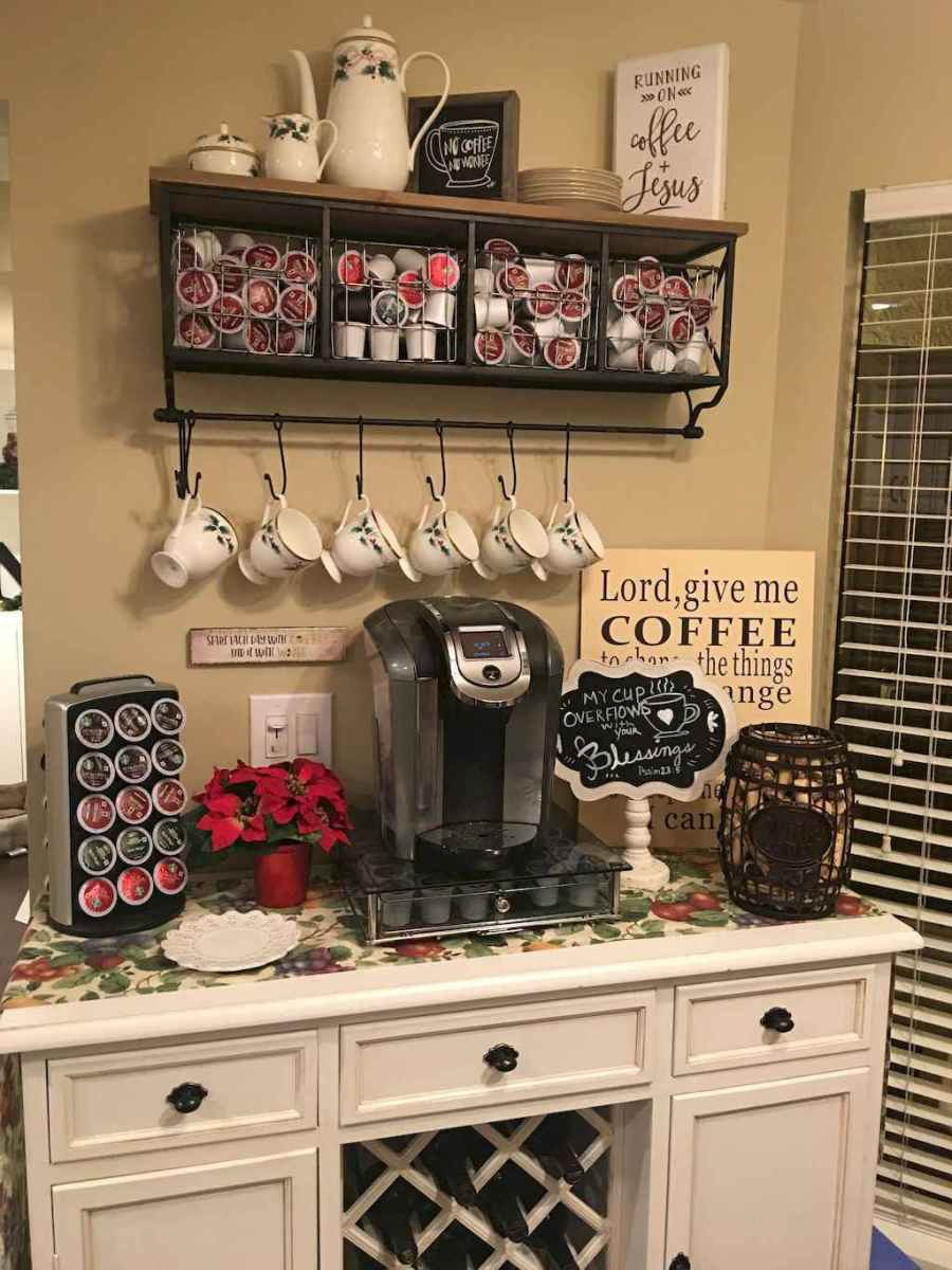 Diy home coffee bar ideas for coffee addict (32)