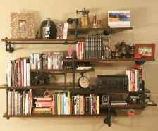 Easy diy pipe shelves ideas on a budget (3)