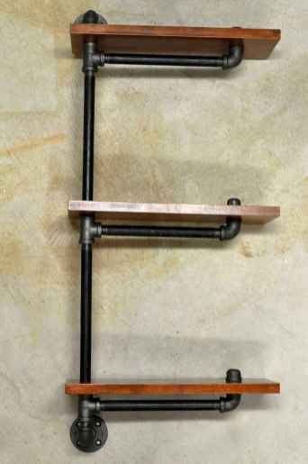 Easy diy pipe shelves ideas on a budget (49)