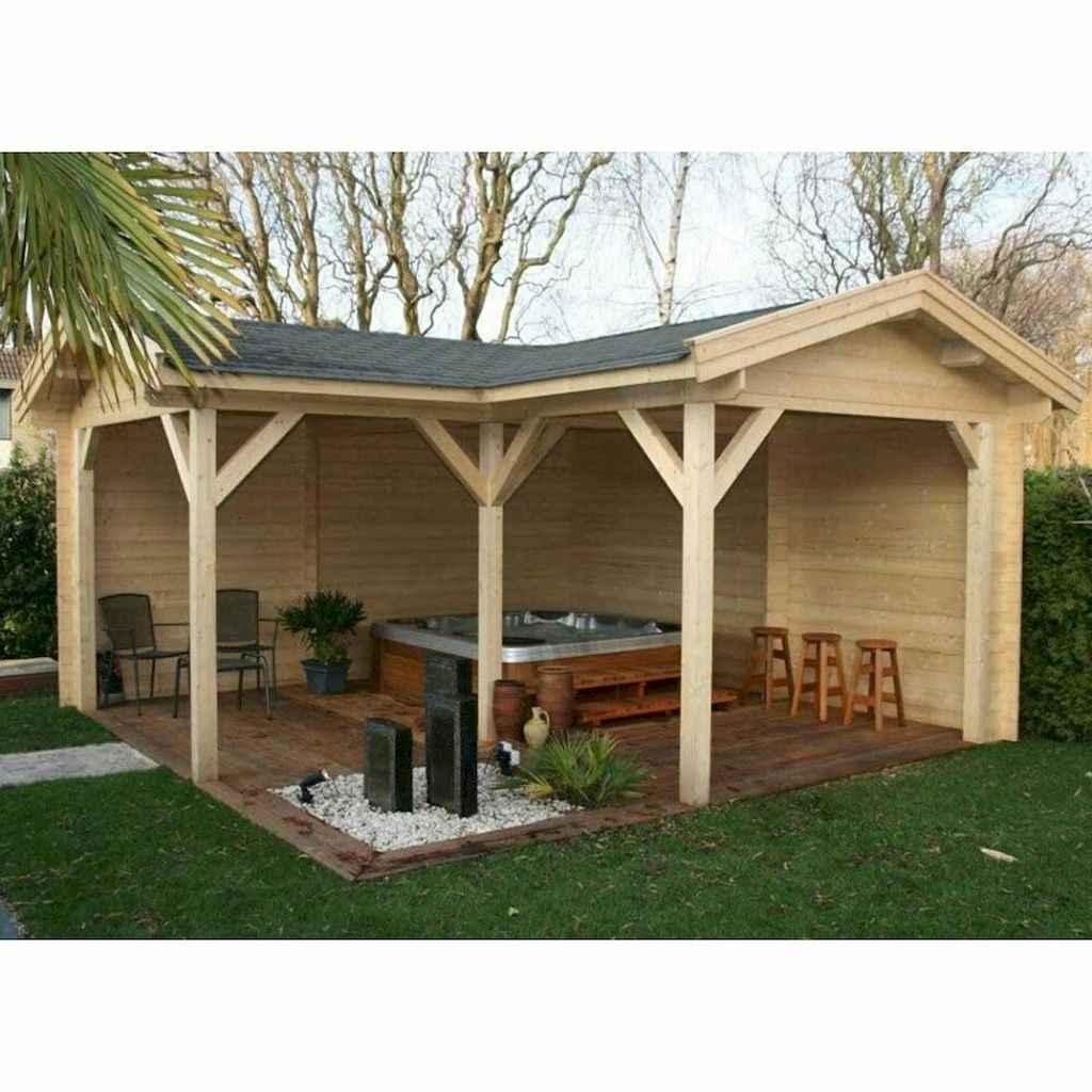 Incredible wood backyard pavilion design ideas outdoor (46)