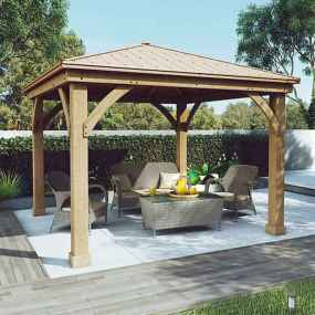 Incredible wood backyard pavilion design ideas outdoor (51)
