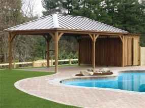 Incredible wood backyard pavilion design ideas outdoor (52)