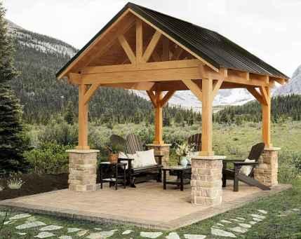 Incredible wood backyard pavilion design ideas outdoor (70)