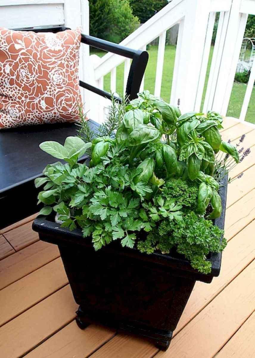 Adorable diy container herb garden design ideas (34)