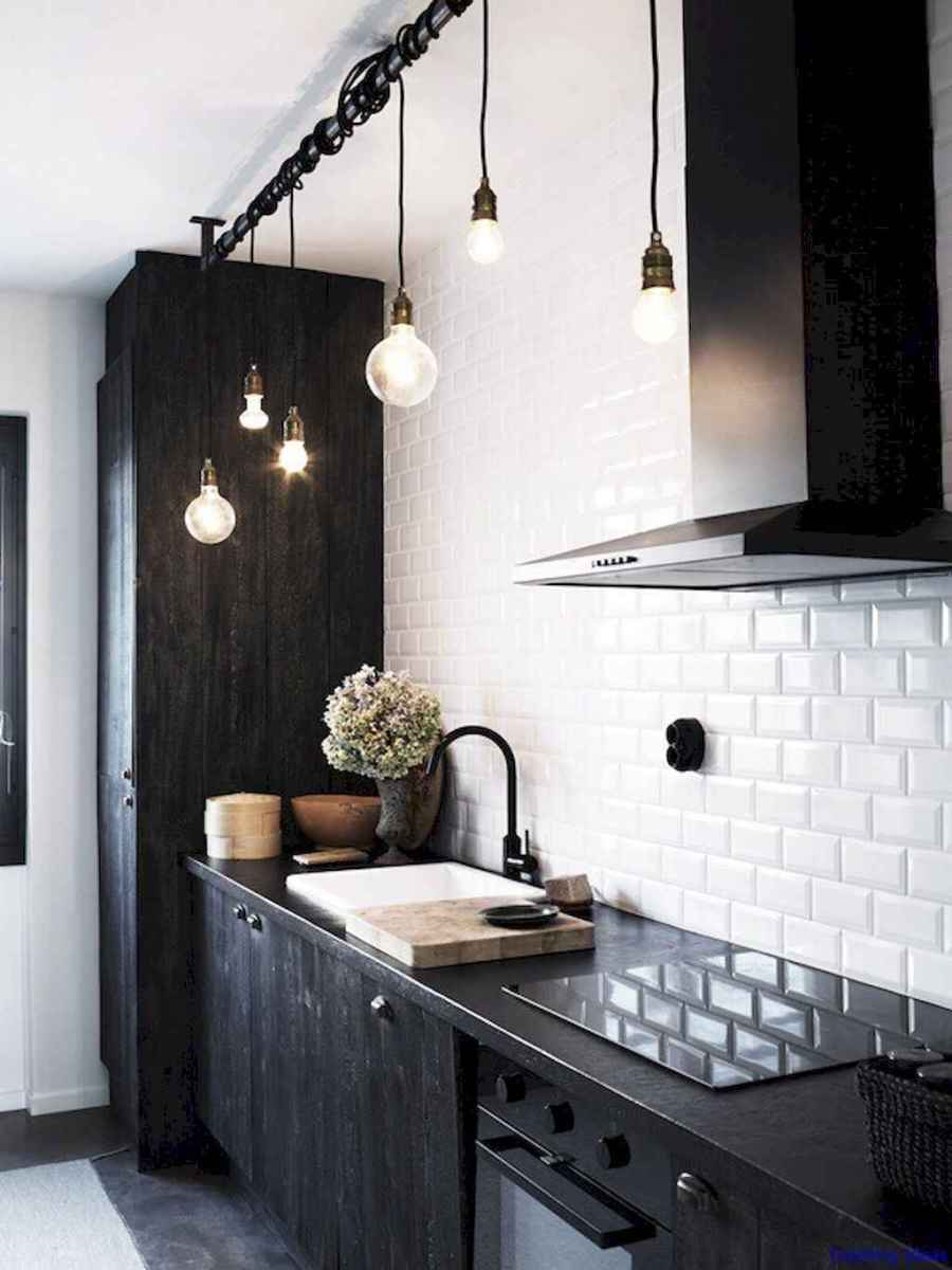 018 luxury black and white kitchen design ideas