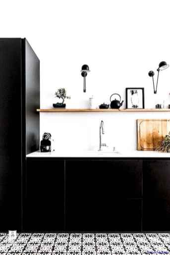 040 luxury black and white kitchen design ideas