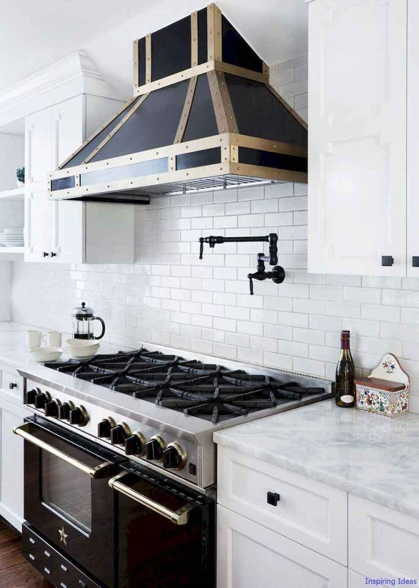 042 luxury black and white kitchen design ideas