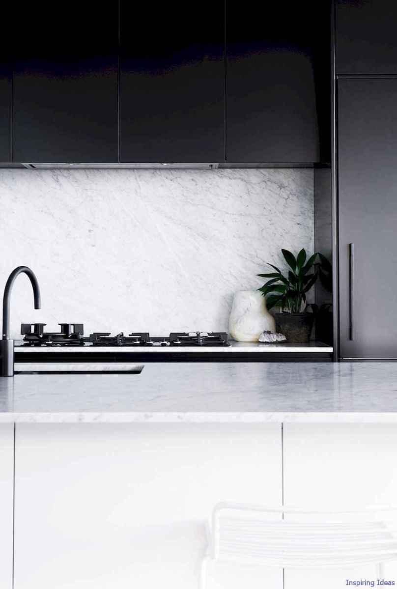 043 luxury black and white kitchen design ideas