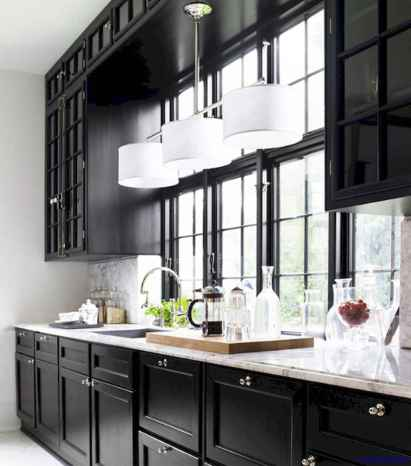 055 luxury black and white kitchen design ideas