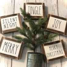 Adorable christmas signs design ideas handmade 0034