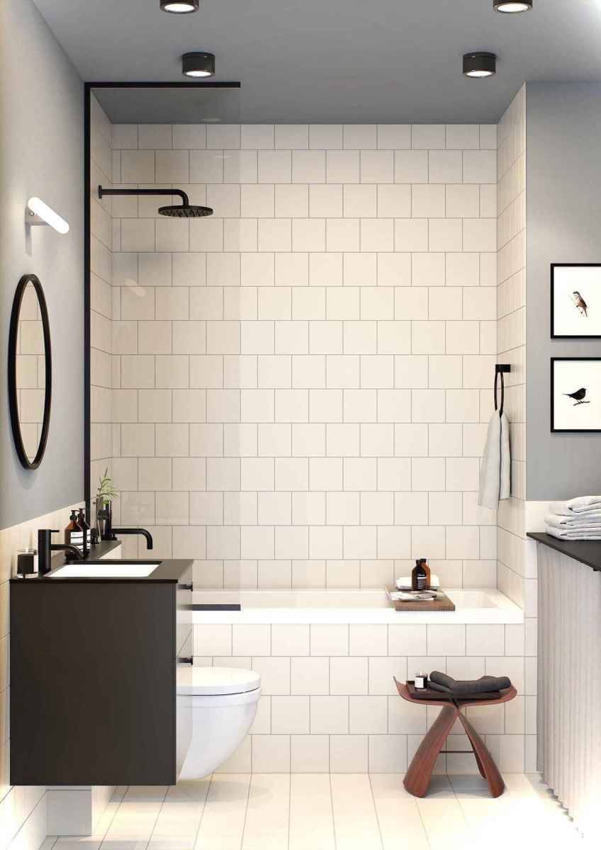 26 black and white bathroom design ideas