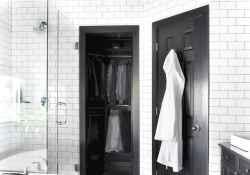 80 black and white bathroom design ideas