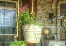 Vintage front porches furniture ideas 42