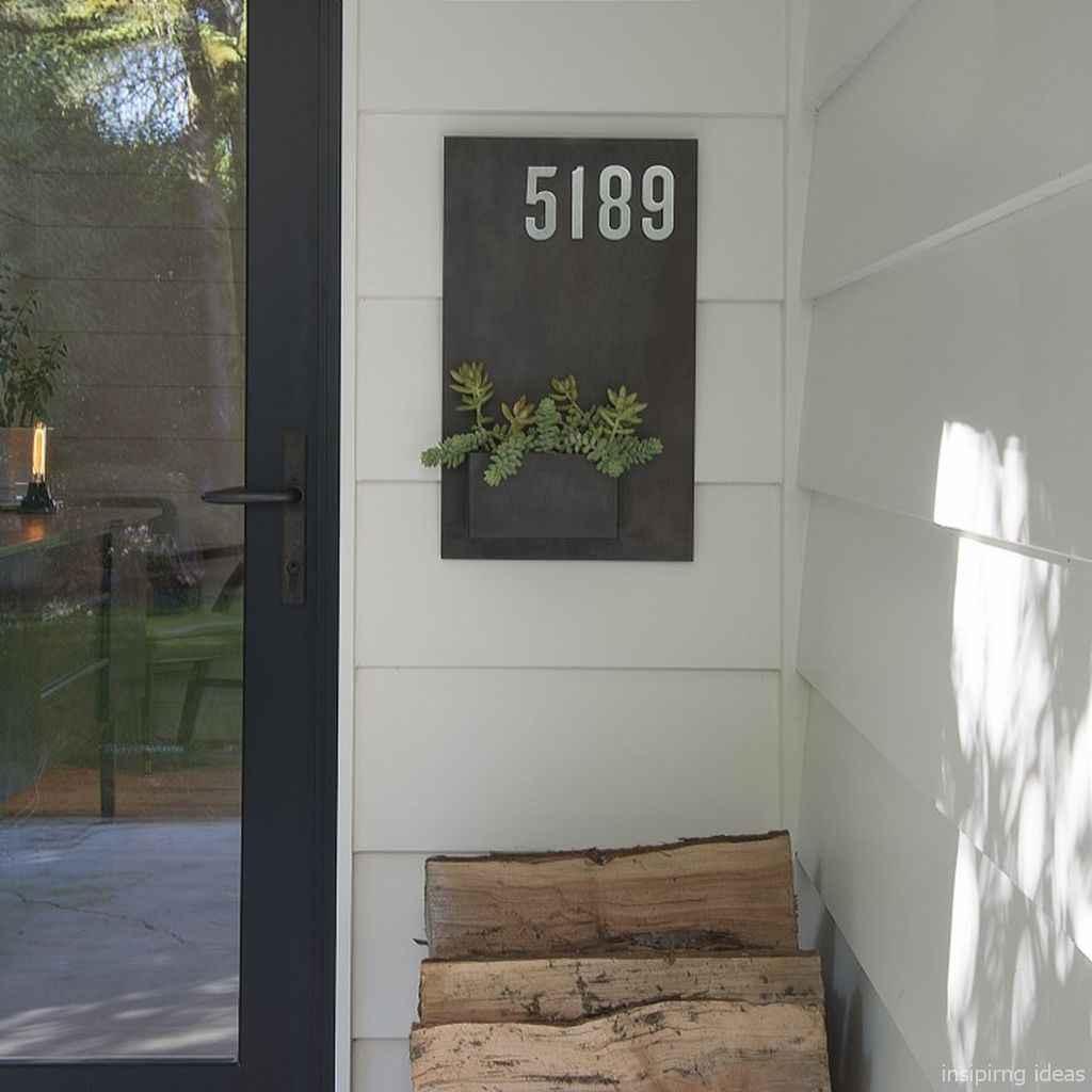 03 awesome diy modern address plate design ideas
