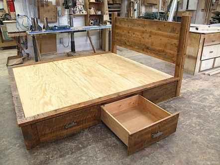 19 genius rustic storage bed design ideas