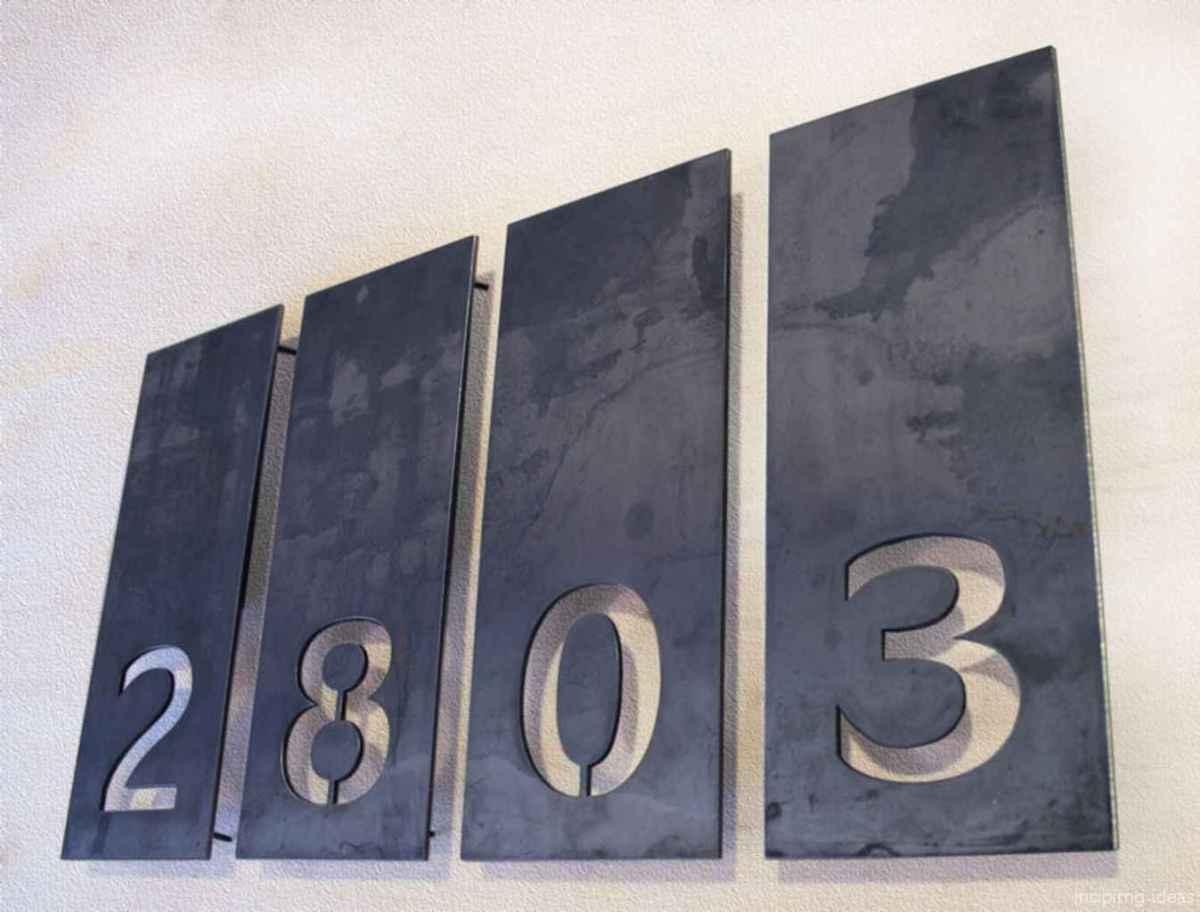 27 awesome diy modern address plate design ideas