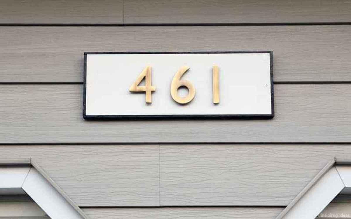 50 awesome diy modern address plate design ideas