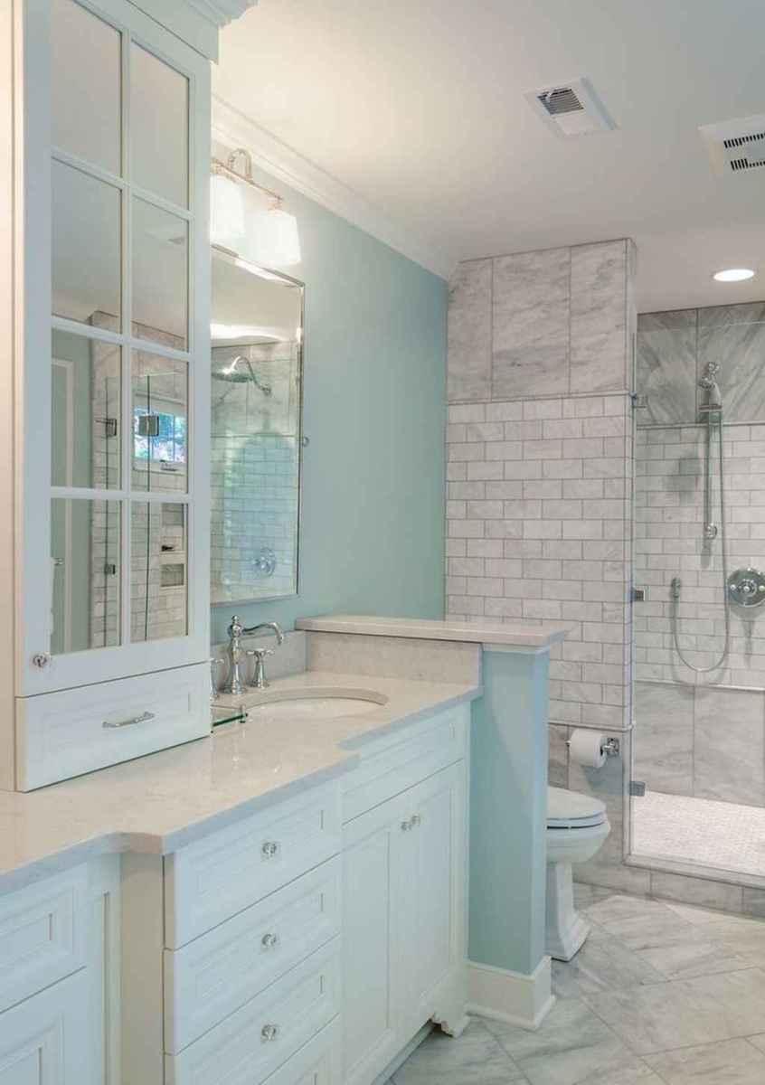 50 modern farmhouse small bathroom wall color ideas 26