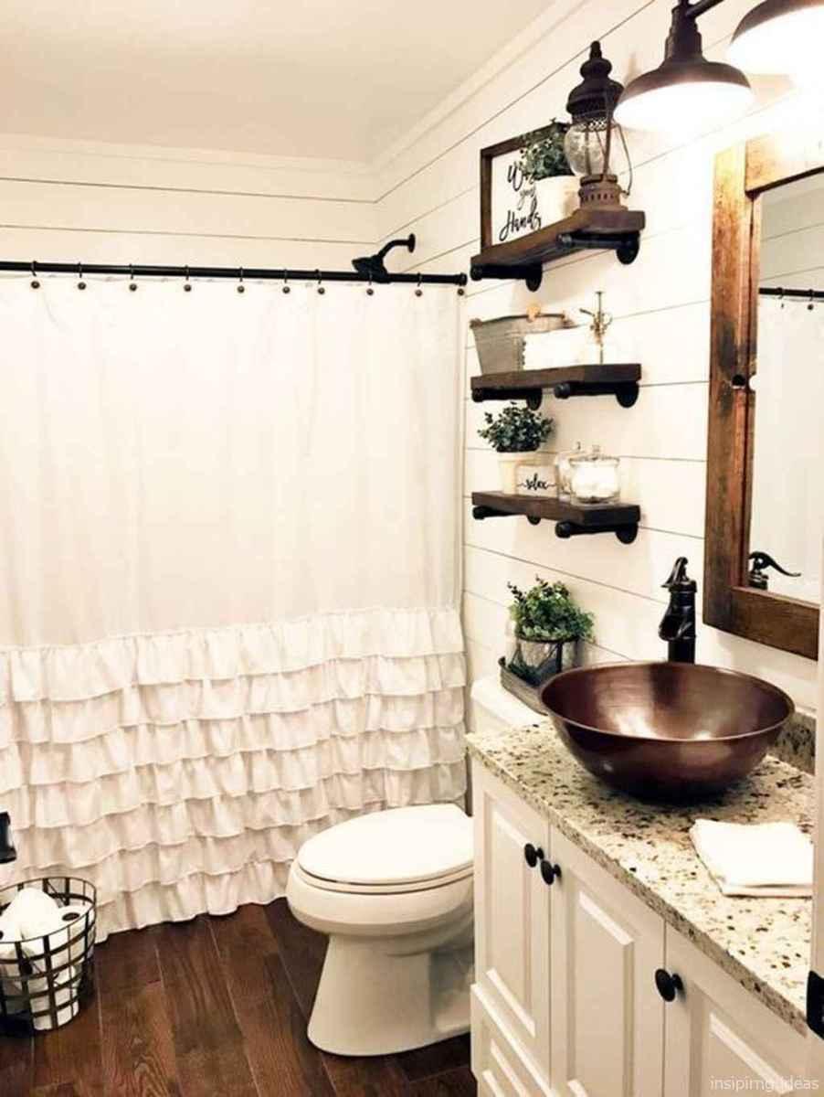 50 modern farmhouse small bathroom wall color ideas 5