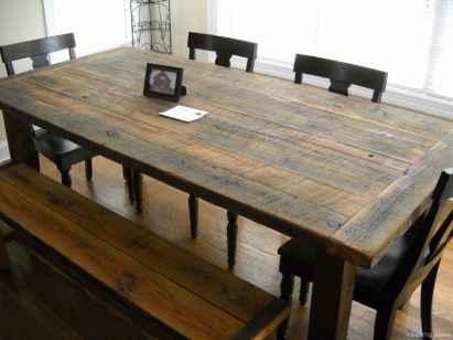 Awesome farmhouse kitchen table design ideas 08