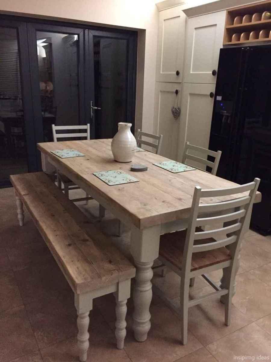 Awesome farmhouse kitchen table design ideas 22