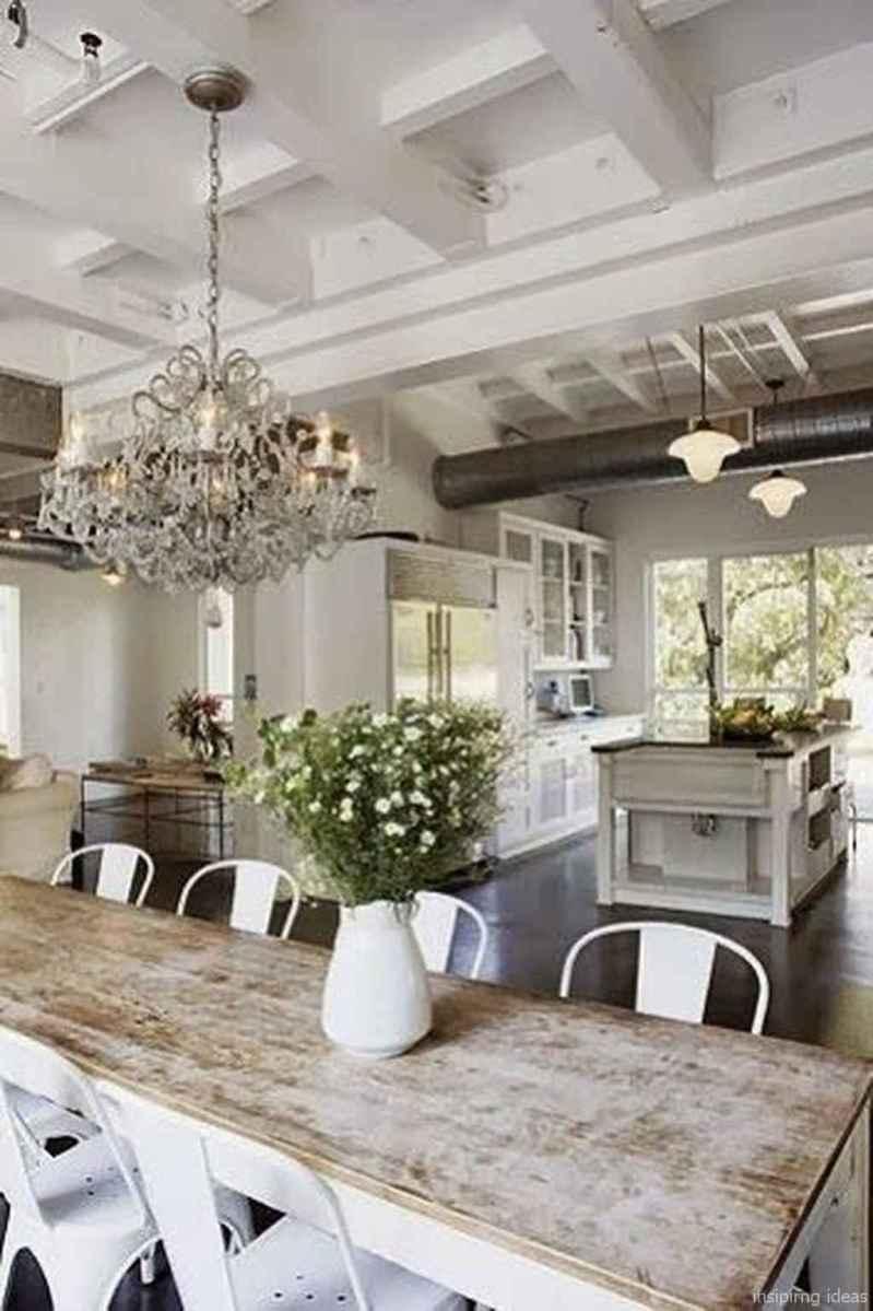 Awesome farmhouse kitchen table design ideas 24