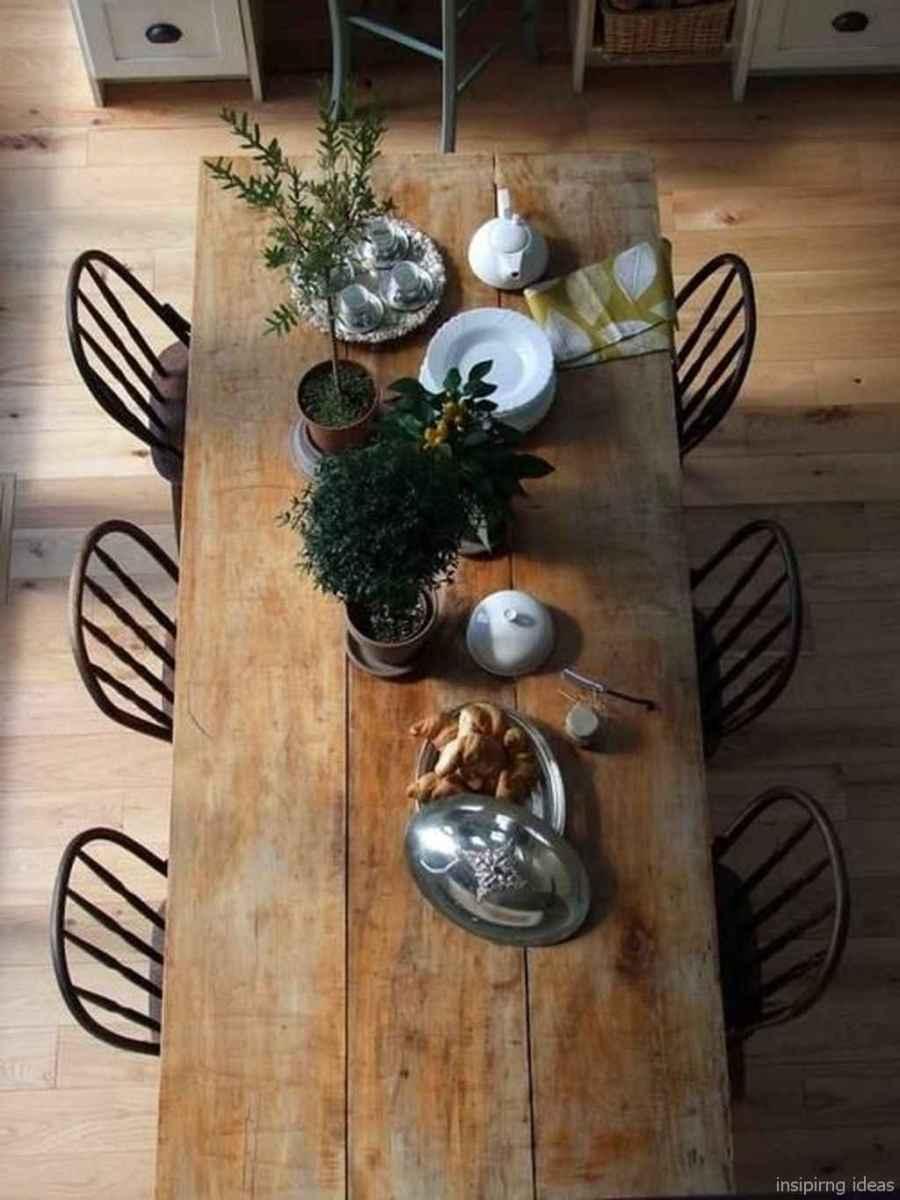 Awesome farmhouse kitchen table design ideas 40