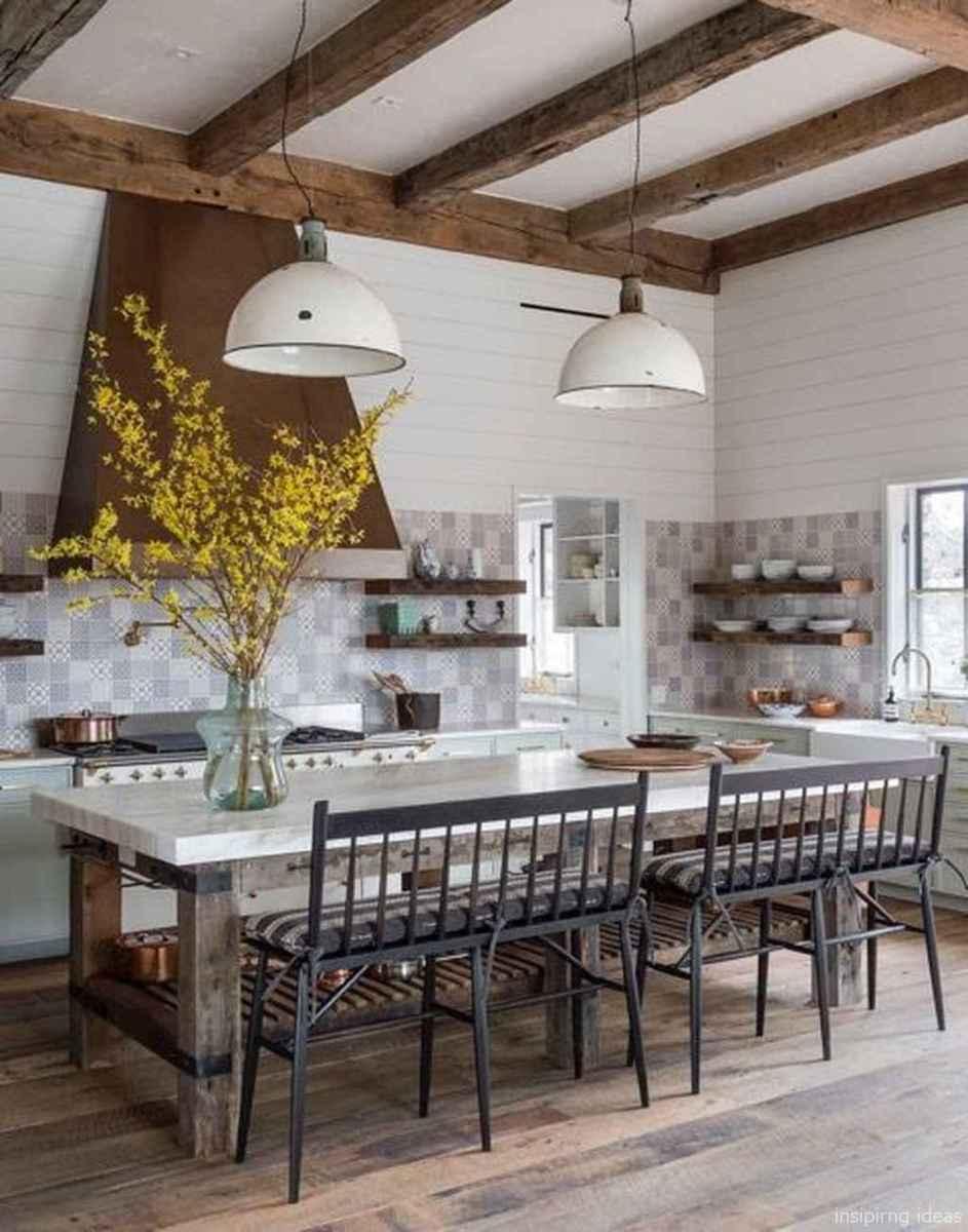 Awesome farmhouse kitchen table design ideas 44