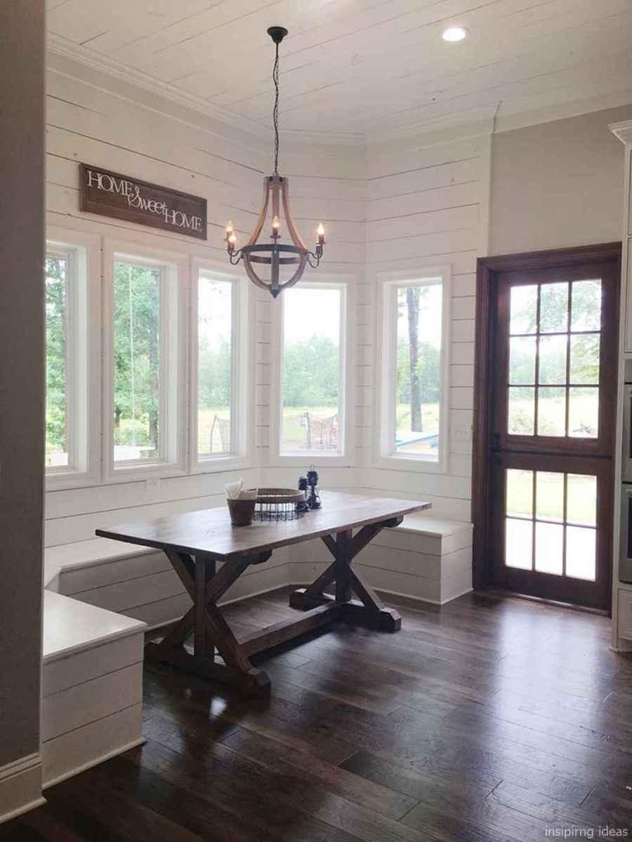 Awesome farmhouse kitchen table design ideas 46