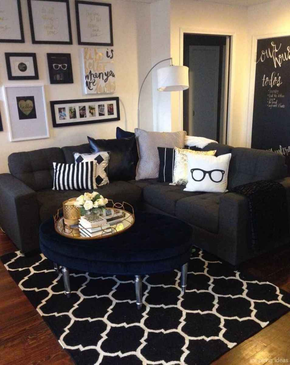 Cozy modern apartment living room decorating ideas on a ...