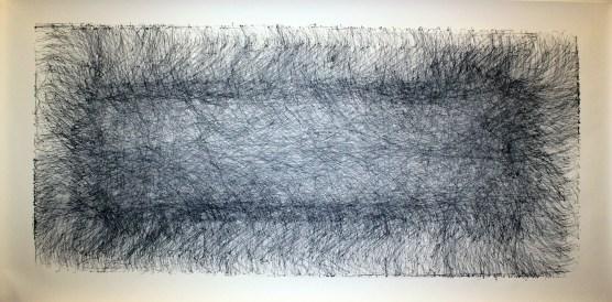 "Hyperbole, 42"" x 74"", ink on paper"