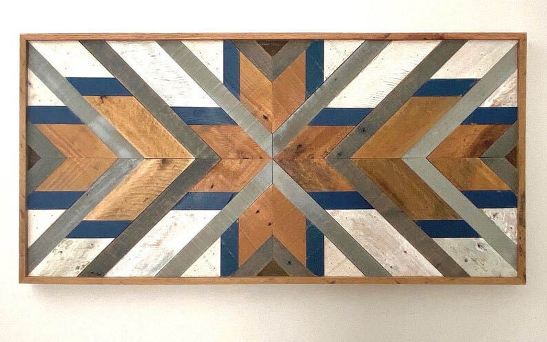 Geometric Wood Wall Art Wood-decor