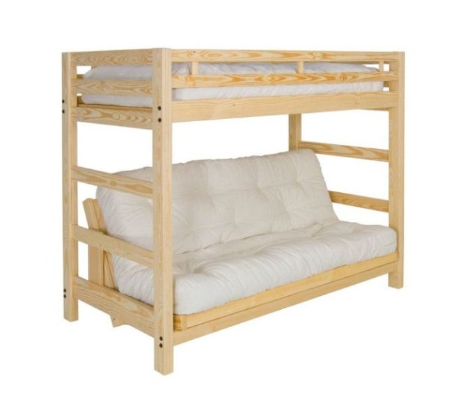 Liberty Futon Bunk Package Deal Includes Full Size Mattress