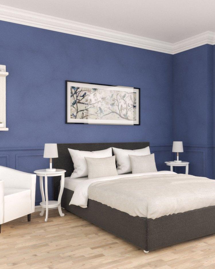 Vintage Royal Blue Bedroom Interior Design Roomdsign Com