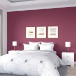 10 Beautiful Burgundy Accent Wall Ideas For Bedroom And Living Room Roomdsign Com