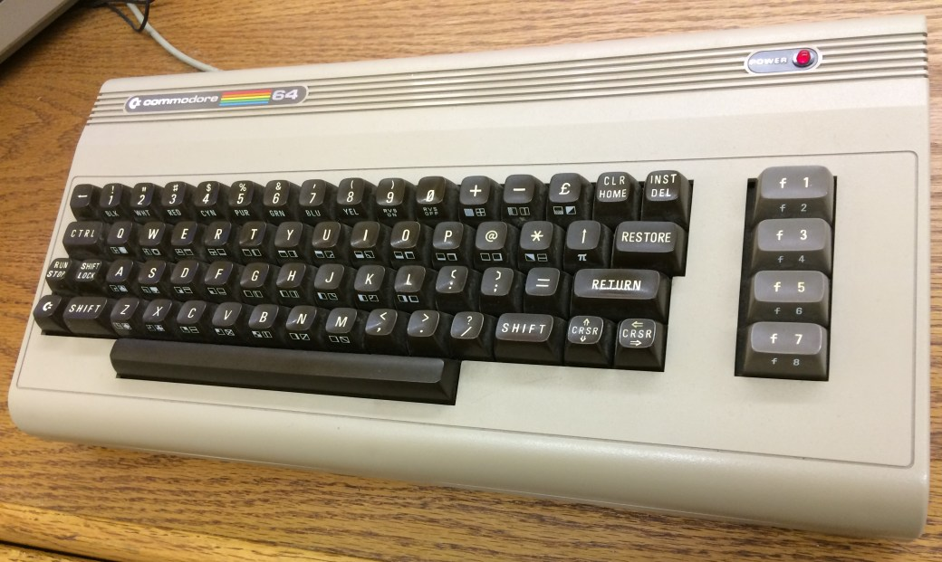 Photo of a Commodore 64 keyboard