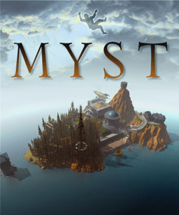 Myst box art featuring the island.