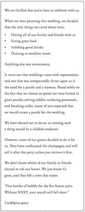 Wedding letter. Parapharshed below.