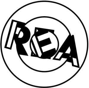 """Room Escape Artist's """"REA"""" - spin puzzle logo"""