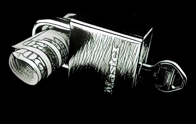 Stylized black and white image of a lock with a wad of $20 bills in its shackle. The lock's key protrudes from the other end.