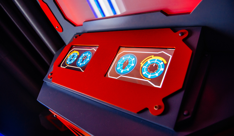 In-game: a control console on the ship