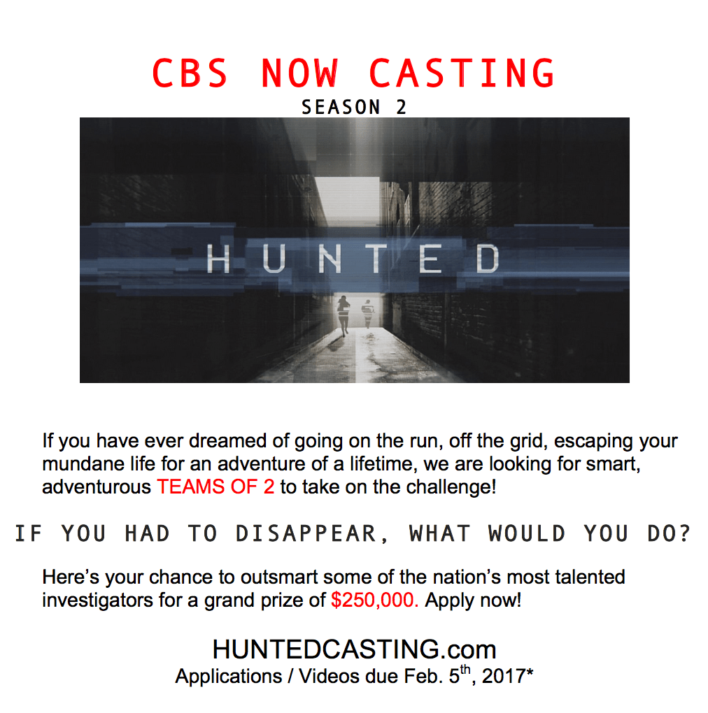 Casting call for Hunted season 2