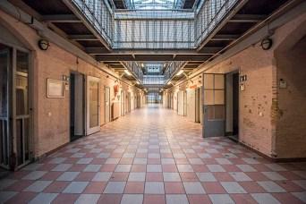 A long hallway in the Prison Dome Breda.