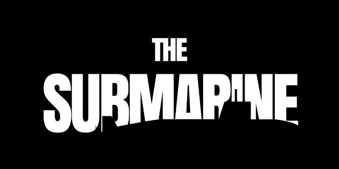 The Submarine logo has the name in a heavy font with the silhouette of a submarine.