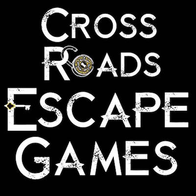 Cross Roads Escape Games' padlock & key logo