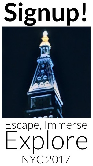 Signup for Escape, Immerse, Explore NYC 2017
